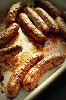 Bratwurst im Backofen zubereitet - Rezept