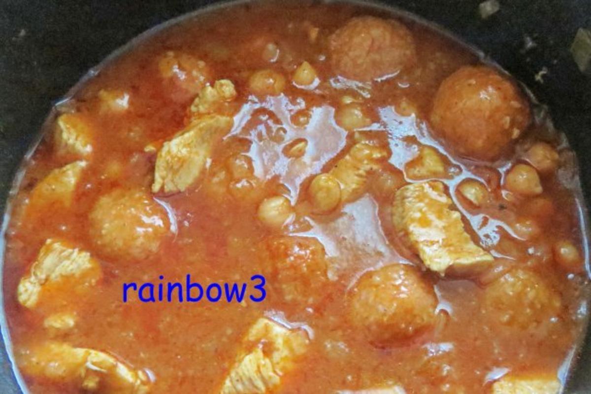 Kochen: Hähnchen-Eintopf mit Bulgur-Bällchen - Rezept von rainbow3