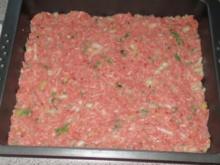 Auflauf: Hackfleisch + Gemüse geschichtet - Rezept