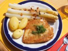 Spargel mit Schollen-Filet und Frühkartoffeln - Rezept