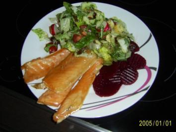 Räucherfisch mit Kressesalat und Meerrettichsauce - Rezept