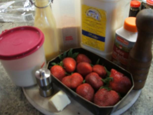 Dessert: Grießflammeri mit Eierlikör-Erdbeeren - Rezept - Bild Nr. 2