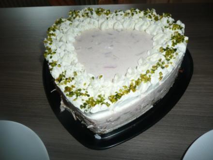 Rhabarber Frischkäse - Herz zum Muttertag ! - Rezept