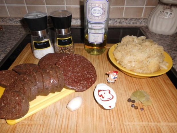 Grützwurst mit Sauerkraut>> - Rezept - Bild Nr. 2