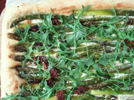 Focaccia mit grünem Spargel - Rezept