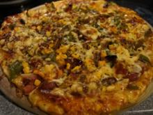 Scharfe Pizza mit Lilienblüten - Rezept