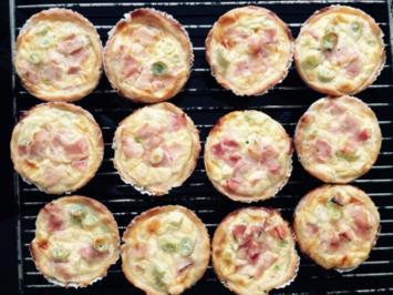 Mini-Quiches mit Kochschinken und Frühlingszwiebeln - Rezept - Bild Nr. 7