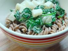 Spinat und Kohlrabi in Zitronensauce - Rezept