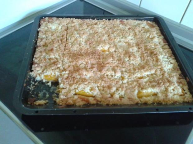 Aprikosenkuchen mit Kokosstreuseln - Rezept