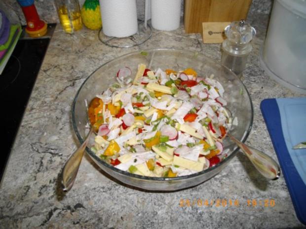 Bunter Käsesalat - Rezept - Bild Nr. 3
