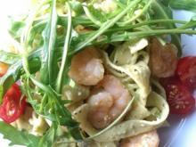 Pasta mit Avocado-Feta-Creme und Chili-Garnelen - Rezept - Bild Nr. 43