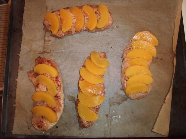 Überbackenes Pfirsichschnitzel mit Champignons - Rezept - Bild Nr. 82