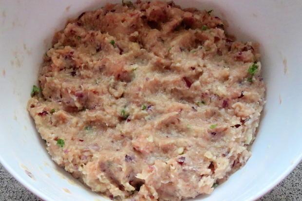 Kochen: Lachs-Frikadellen mit Kartoffeln - Rezept - Bild Nr. 84