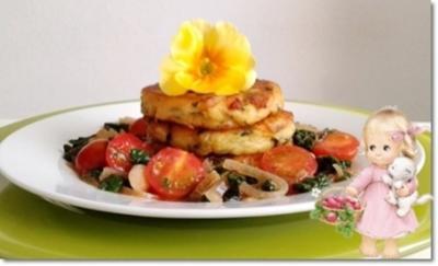 Kartoffel-Mangold  Frikadellen  an Mangold-Tomaten Salat - Rezept - Bild Nr. 93