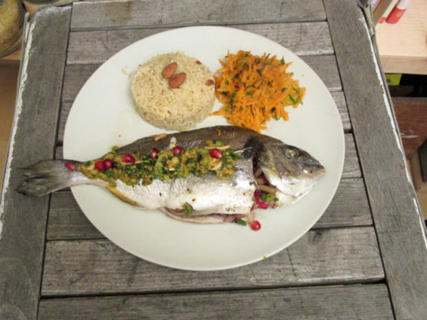 Gefüllte Makrele, Nuss-Reis & Möhren-Orangen-Salat - Rezept - Bild Nr. 36