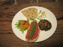 Fünf Varianten von Lachs, der Ziege, dem Huhn, dem Rind und den Linsen - Rezept - Bild Nr. 34