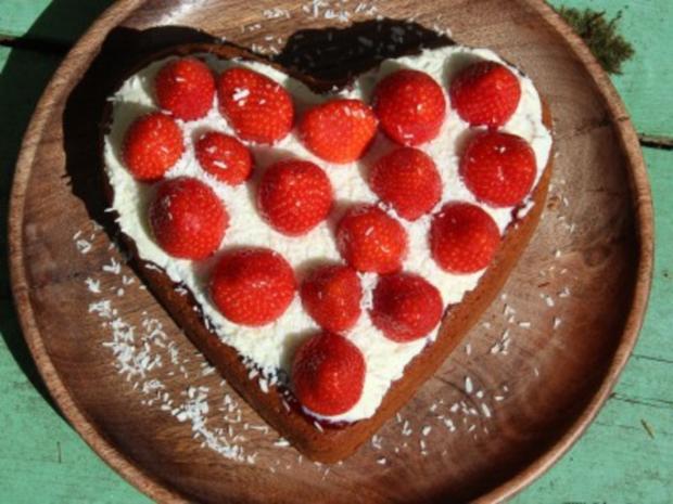 Erdbeer-Herzkuchen zum Muttertag - Rezept - Bild Nr. 62