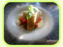 Zander mit geschmolzenen Tomaten und Buttermilchschaum - Rezept - Bild Nr. 49