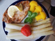 Spargel mit Putenschnitzel und Curry-Kartoffelpilzen - Rezept - Bild Nr. 70