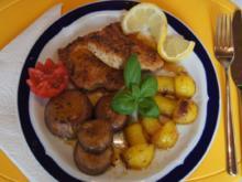 Putenschnitzel mit braunen Champignons und gebratenen Kartoffelpilzen - Rezept - Bild Nr. 29