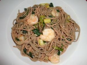 Hanf & Dinkel Spaghetti mit grünem Spargel frischem Spinat und Garnelen - Rezept - Bild Nr. 29