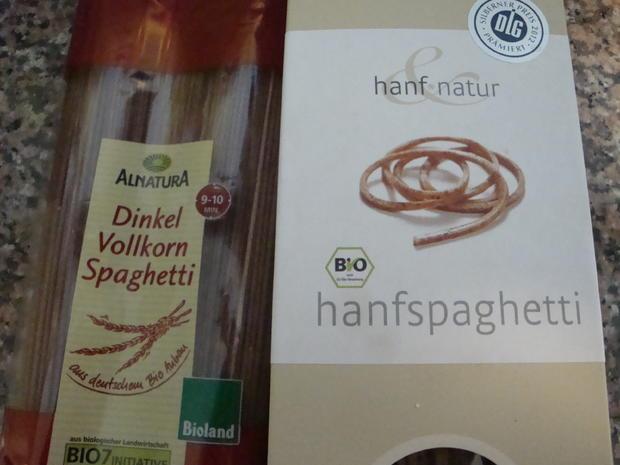 Hanf & Dinkel Spaghetti mit grünem Spargel frischem Spinat und Garnelen - Rezept - Bild Nr. 30