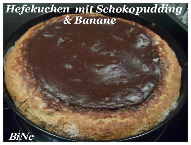 hefekuchen mit schokopudding banane rezept. Black Bedroom Furniture Sets. Home Design Ideas