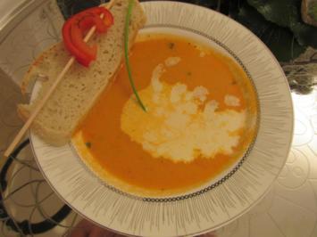 Rezept: Würzige Paprika-Tomaten-Suppe