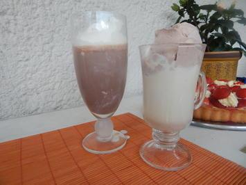 Rezept: Getränk - Zweierlei Eisschokolade