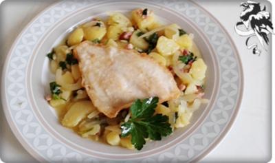 Gebratene Scholle  auf  bayerischem Kartoffelsalat - Rezept - Bild Nr. 23