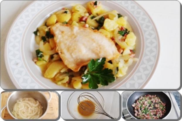 Gebratene Scholle Auf Bayerischem Kartoffelsalat Rezept Kochbarde