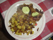 Rindersteaks mit Bratkartoffeln und Bärlauchbutter - Rezept - Bild Nr. 13