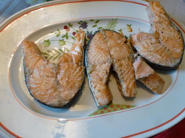 Lachskotlett mit Kartoffelsalat - Rezept - Bild Nr. 14