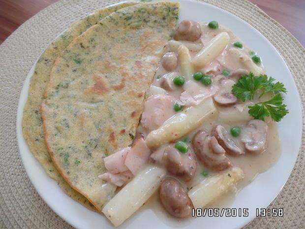Spargelragout mit Kräuter-Pfannkuchen - Rezept - Bild Nr. 12