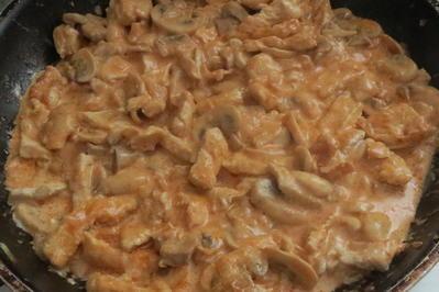 Rezept: Kochen: Putengeschnetzeltes in Sahnesauce