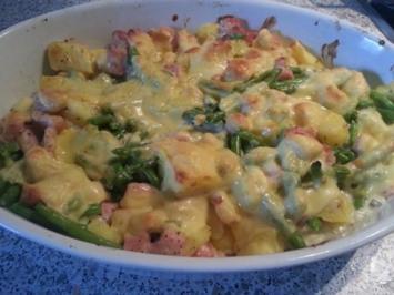 Rezept: Kartoffel-Kasslerauflauf