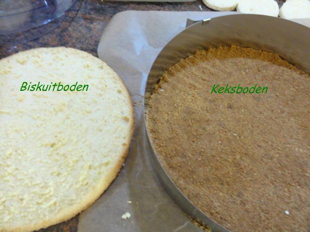 Biskuit: BODEN und DECKEL für kalte Kuchen 26ø Springform - Rezept ...