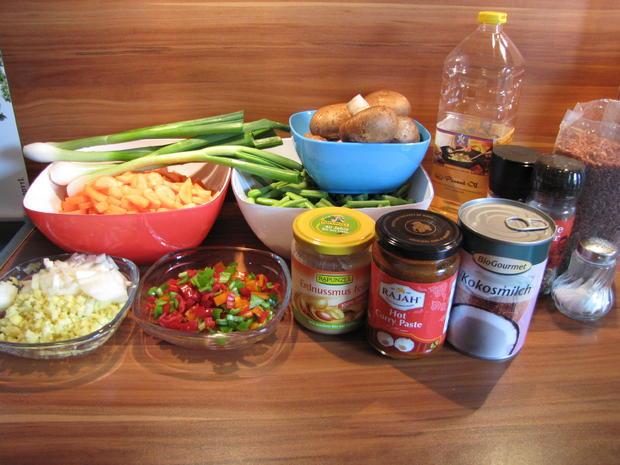 Thai Curry hot & spicy mit rotem Reis und Hähnchen - Rezept - Bild Nr. 19
