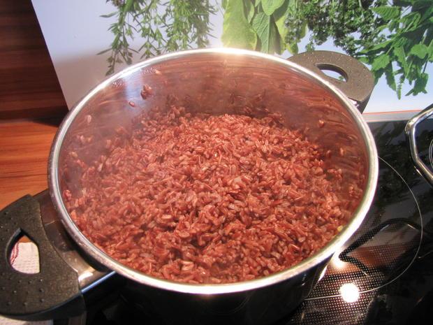 Thai Curry hot & spicy mit rotem Reis und Hähnchen - Rezept - Bild Nr. 26
