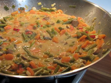 Thai Curry hot & spicy mit rotem Reis und Hähnchen - Rezept - Bild Nr. 27