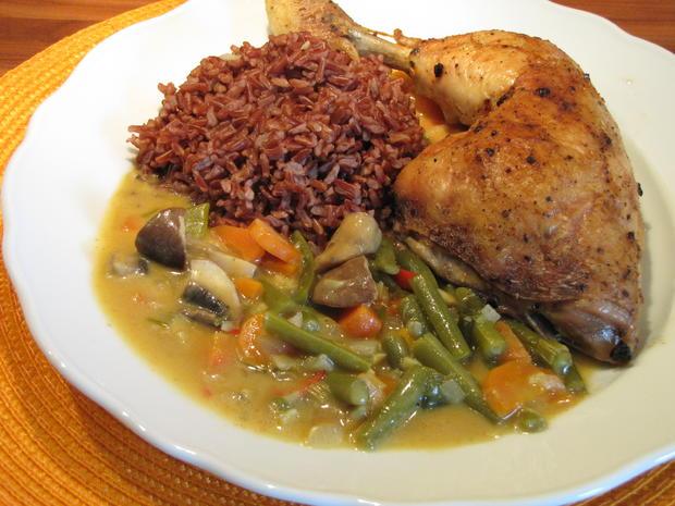 Thai Curry hot & spicy mit rotem Reis und Hähnchen - Rezept - Bild Nr. 28