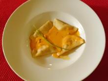 Ravioli an Parmesan-Sahne-Sauce mit Garnelen unter der Haube dazu Dough-Balls - Rezept - Bild Nr. 26