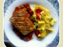 Zander mit Tomaten-Oliven-Ragout und Zucchini-Pappardelle - Rezept - Bild Nr. 26