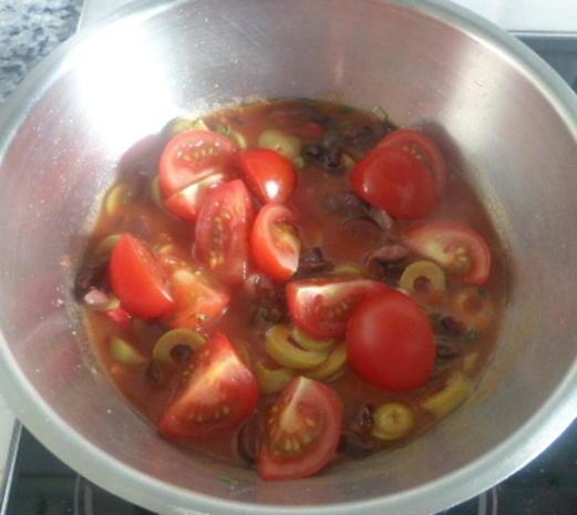 Zander mit Tomaten-Oliven-Ragout und Zucchini-Pappardelle - Rezept - Bild Nr. 27