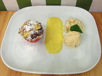 Apfelkuchen mit Vanille-Chardonnay-Zabaione, Eis - Rezept - Bild Nr. 51