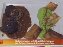 Kalbsrouladen gefüllt mit Babybanane, Serrano auf Erbsenpüree - Rezept - Bild Nr. 183