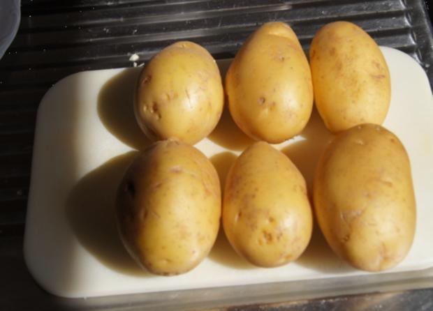 Lachsfilet mit Rahm-Spinat und Curry-Kartoffelpilzen - Rezept - Bild Nr. 59