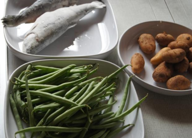 Regenbogenforelle mit grünen Bohnen und Curry-Kartoffeln - Rezept - Bild Nr. 61