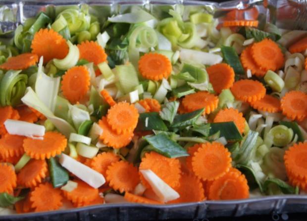 Regenbogenforelle mit grünen Bohnen und Curry-Kartoffeln - Rezept - Bild Nr. 63