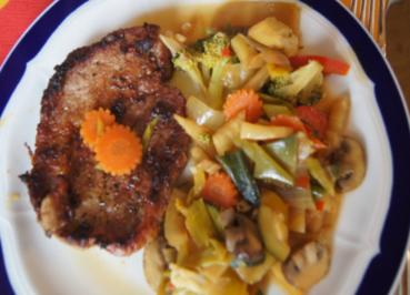 Rezept: Gemüsewok mit Steak